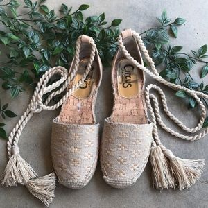 Circus by Sam Edelman Lace Up Espadrilles